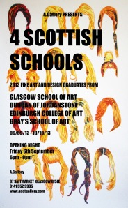 4 Scottish Schools Exhibition at A. Gallery
